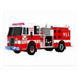 FIRE TRUCK POST CARD