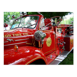 Fire truck postcard.... postcard