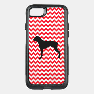Fire Truck Red Chevron With Boxer OtterBox Commuter iPhone 8/7 Case