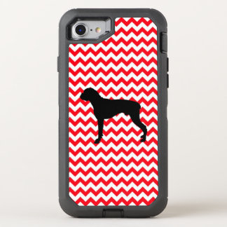 Fire Truck Red Chevron With Boxer OtterBox Defender iPhone 8/7 Case