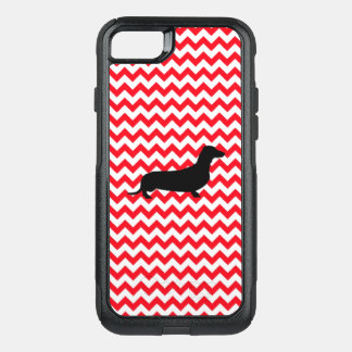 Fire Truck Red Chevron With Dachshund OtterBox Commuter iPhone 8/7 Case