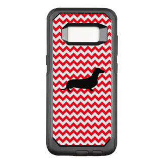 Fire Truck Red Chevron With Dachshund OtterBox Commuter Samsung Galaxy S8 Case