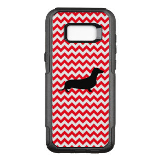 Fire Truck Red Chevron With Dachshund OtterBox Commuter Samsung Galaxy S8+ Case