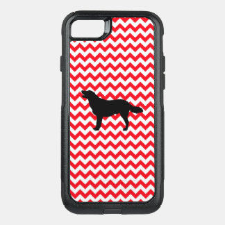 Fire Truck Red Chevron With Golden Silhouette OtterBox Commuter iPhone 8/7 Case