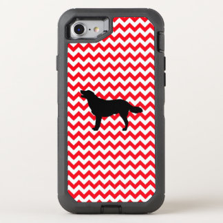 Fire Truck Red Chevron With Golden Silhouette OtterBox Defender iPhone 8/7 Case