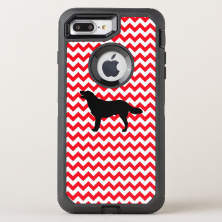 Fire Truck Red Chevron With Golden Silhouette OtterBox Defender iPhone 8 Plus/7 Plus Case