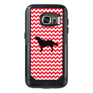 Fire Truck Red Chevron With Golden Silhouette OtterBox Samsung Galaxy S7 Case