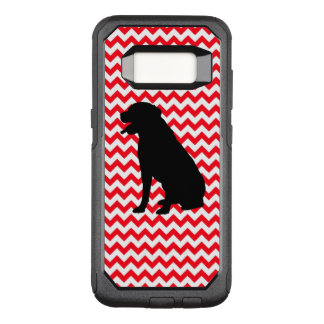Fire Truck Red Chevron With Lab Silhouette OtterBox Commuter Samsung Galaxy S8 Case