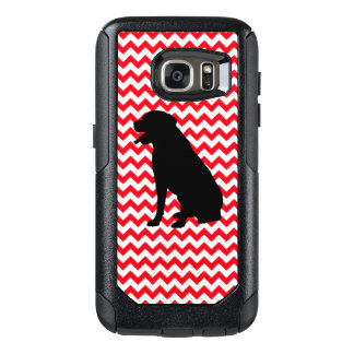 Fire Truck Red Chevron With Lab Silhouette OtterBox Samsung Galaxy S7 Case