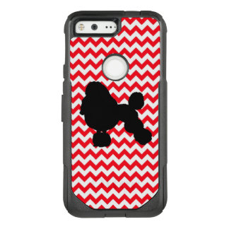 Fire Truck Red Chevron With Poodle Silhouette OtterBox Commuter Google Pixel Case