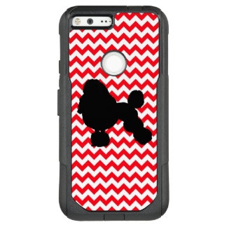 Fire Truck Red Chevron With Poodle Silhouette OtterBox Commuter Google Pixel XL Case