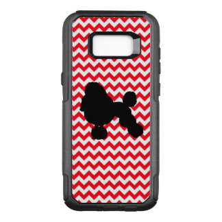 Fire Truck Red Chevron With Poodle Silhouette OtterBox Commuter Samsung Galaxy S8+ Case