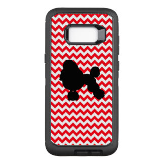 Fire Truck Red Chevron With Poodle Silhouette OtterBox Defender Samsung Galaxy S8+ Case