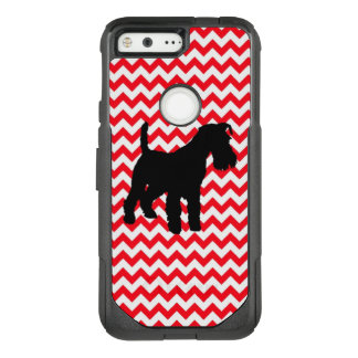 Fire Truck Red Chevron With Schnauzer OtterBox Commuter Google Pixel Case