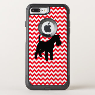 Fire Truck Red Chevron With Schnauzer OtterBox Commuter iPhone 8 Plus/7 Plus Case