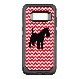 Fire Truck Red Chevron With Schnauzer OtterBox Commuter Samsung Galaxy S8 Case