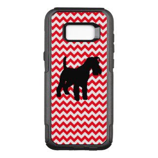Fire Truck Red Chevron With Schnauzer OtterBox Commuter Samsung Galaxy S8+ Case