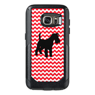 Fire Truck Red Chevron With Schnauzer OtterBox Samsung Galaxy S7 Case