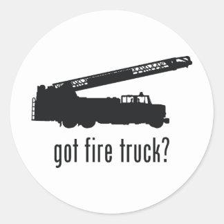 Fire Truck Round Stickers