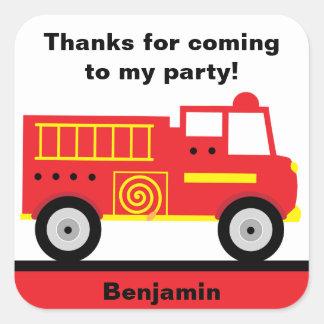 Fire Truck Stickers