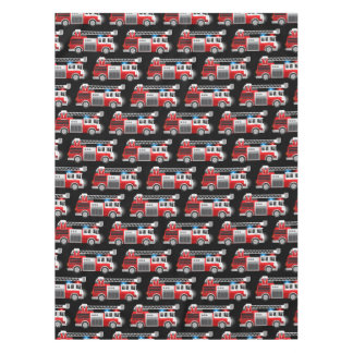 Fire truck tablecloth