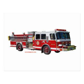 Fire_Truck_texturizer Postcard