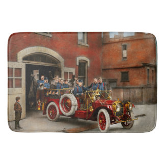 Fire Truck - The flying squadron 1911 Bath Mat
