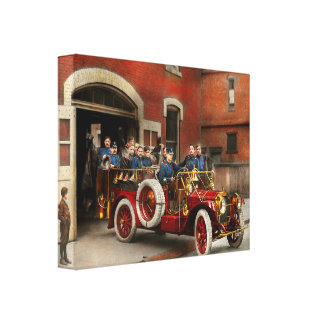 Fire Truck - The flying squadron 1911 Canvas Print