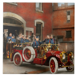 Fire Truck - The flying squadron 1911 Ceramic Tiles