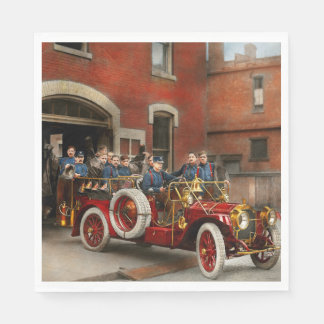 Fire Truck - The flying squadron 1911 Disposable Napkins