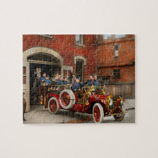 Fire Truck - The flying squadron 1911 Jigsaw Puzzle