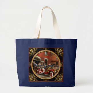 Fire Truck - The flying squadron 1911 Large Tote Bag