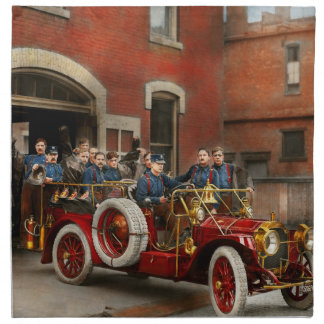 Fire Truck - The flying squadron 1911 Napkin