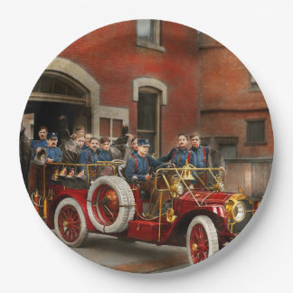 Fire Truck - The flying squadron 1911 Paper Plate
