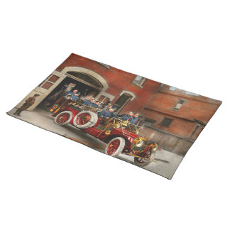 Fire Truck - The flying squadron 1911 Place Mat
