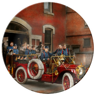 Fire Truck - The flying squadron 1911 Plate