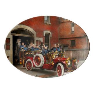 Fire Truck - The flying squadron 1911 Porcelain Serving Platter