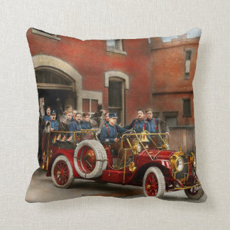 Fire Truck - The flying squadron 1911 Throw Pillow