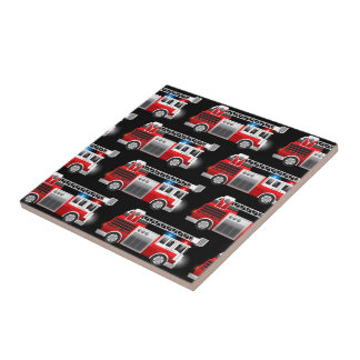 Fire truck tile