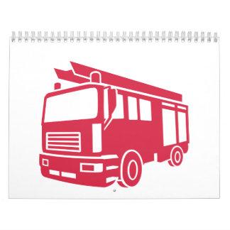Fire truck wall calendars