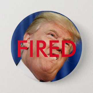 Fire Trump 3 Inch Round Button