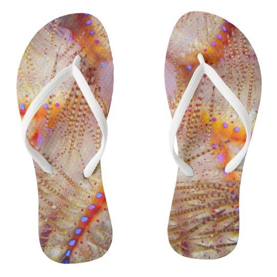 Fire Urchin Flip Flops