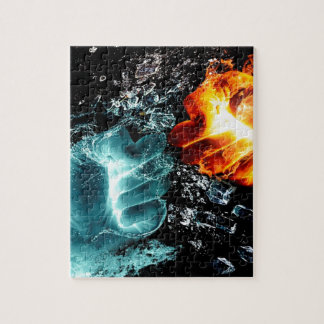 Fire Vs Water Jigsaw Puzzle