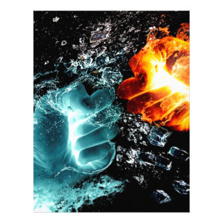 Fire Vs Water Letterhead