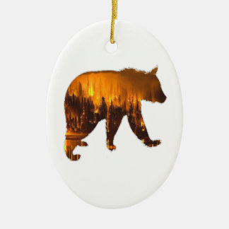 Fire Walker Ceramic Ornament