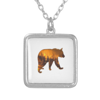 Fire Walker Silver Plated Necklace