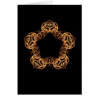 Fire Wand Star - Blank Vertical Card