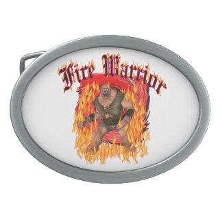 Fire Warrior Belt Buckle