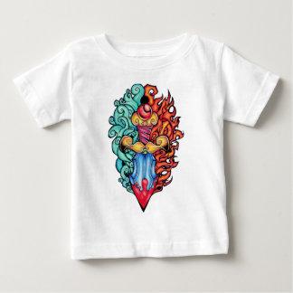 Fire & Water Dagger Tattoo Baby T-Shirt