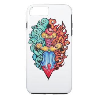 Fire & Water Dagger Tattoo iPhone 7 Plus Case